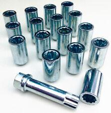 16 x wheel Tuner Slim nuts lugs bolts + 17mm Hex Key. M12x1.5 - M12, Taper