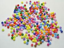 5000 Mixed Bright Color Acrylic Round Beads 4mm Smooth Ball Seed Beads