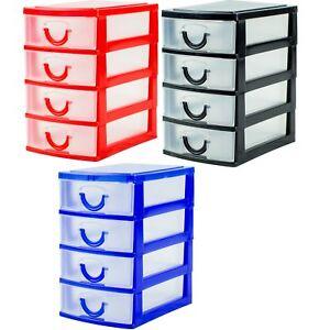 14cm-Mini-4-Drawer-Desk-Storage-Tray-Office-Organiser-Jewellery-Craft-Box-Sewing