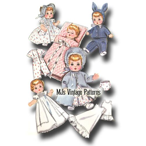 """Betsy Wetsy Vtg 1950s Doll Clothes Pattern ~ 19/"""" 20/"""" 21/"""" Tiny Tears Dy Dee"""