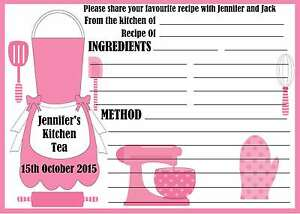 Personalised-Kitchen-Tea-Bridal-Shower-Recipe-Cards-x-10-free-postage