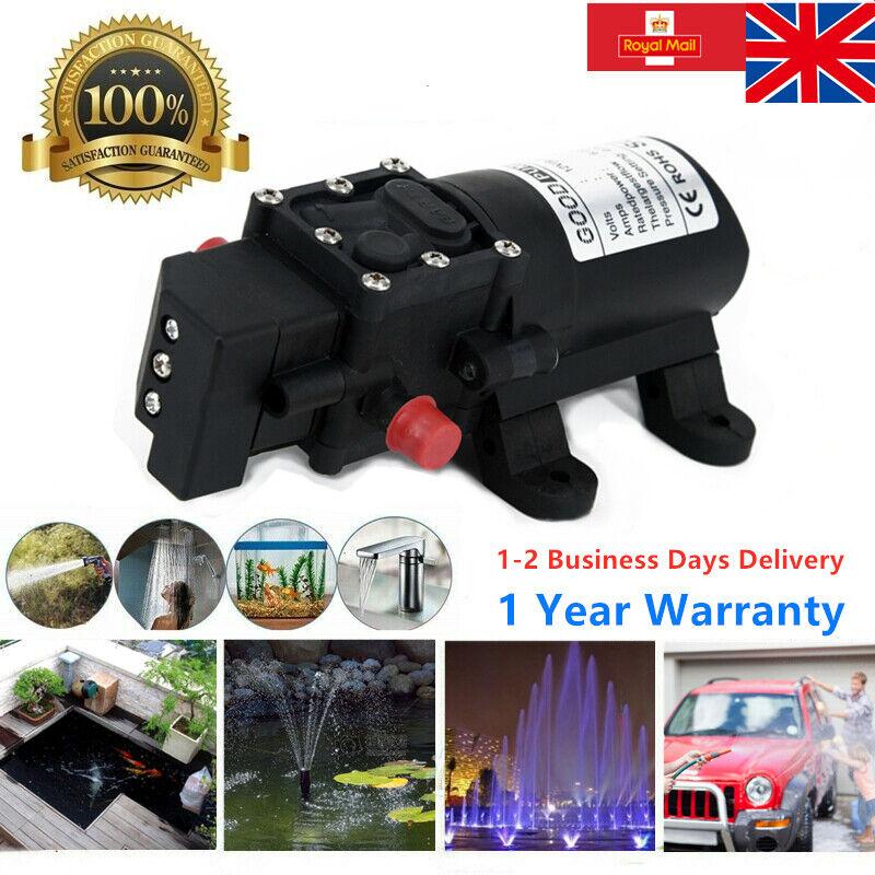 130PSI 12V Water Pump Self Priming Pump Diaphragm High Pressure Automatic Switch