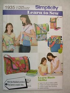 Patchwork Quilting Bags Sewing Pattern Simplicity 1935 See Full Listing Info