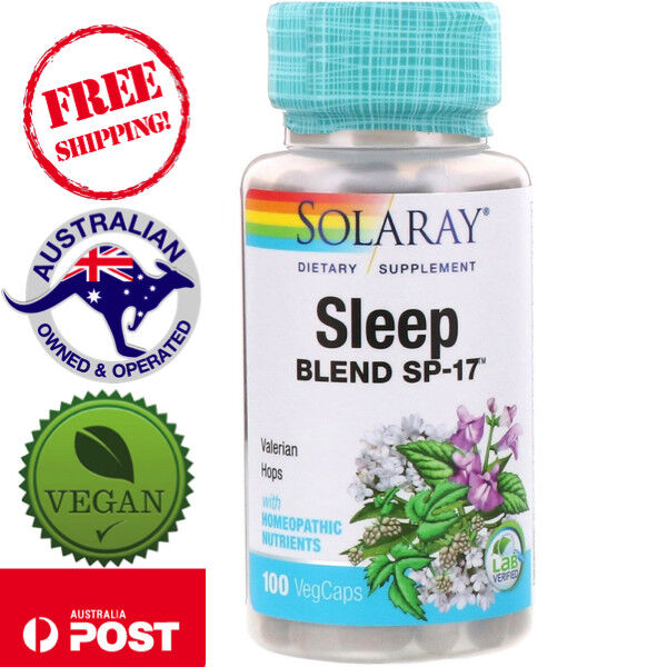 Solaray, Sleep Blend SP-17, 100 Vegan Caps - Non-GMO - Valerian Hops