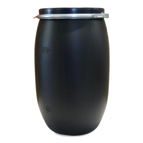 120 Liter Fass Behälter Kunststoff Tonne Tresterfass Silage Plastiktonne schwarz