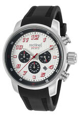 Red Line Topgear Chronograph Silver Dial Mens Watch RL-303C-02S-RDA