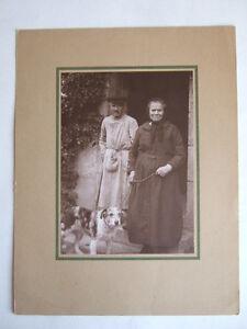 Détails Sur Photo Ancienne Noir Blanc Couple Homme Femme Avec Chien Costume Campagne