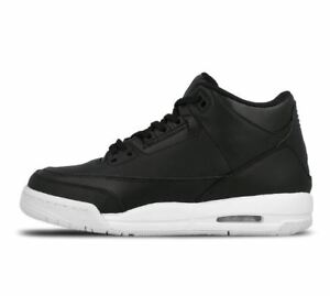 Details zu Nike Air Jordan 3 Retro BG Gr 37,5 weiss schwarz balck white 398614 020