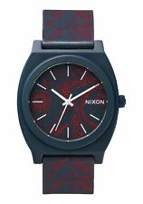 NWT Nixon Time Teller P Watch Navy Paisley Mens Womens aa93
