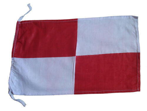 "Naval Signal Flag U Nautical // Boat 8/"" X 13/"" 100/% Cotton – Marine Code"