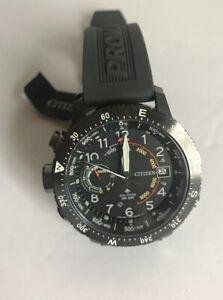 NWT-Citizen-Eco-Drive-Men-039-s-Promaster-Altichron-Gray-Polyurethane-Watch-MSRP-595