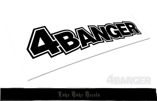 4banger Decal /_ HQ BlackListed JDM style Die Cut Vinyl Sticker Decal Style 2.1