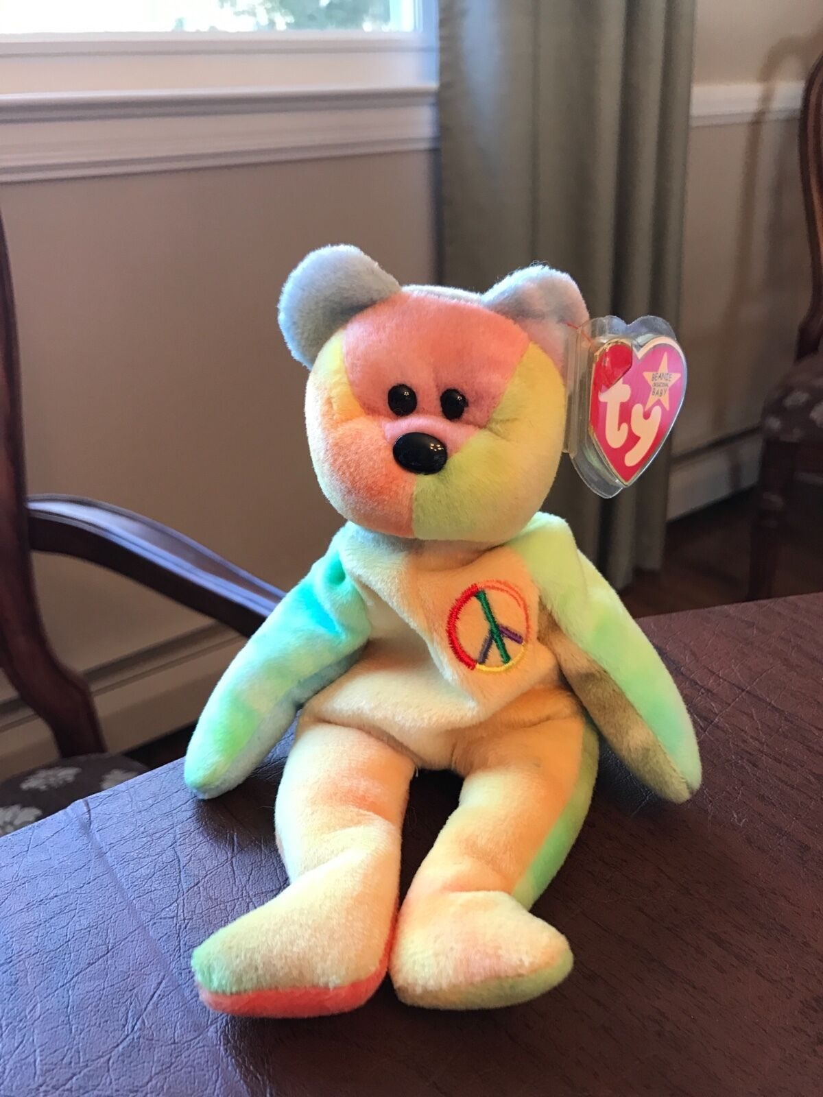 Very Rare Ty Beanie Baby Peace Bear Original Tag Collectible with Tag  Original Errors 13bec4 3f3d3203a19d