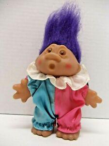 Clown-Troll-Vintage-DAM-1986-Doll-Purple-Hair