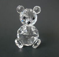 "Swarovski Crystal Sitting BEAR~~Black Bead Eyes & Nose~~2 3/4"" Tall"