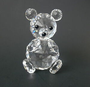 bb99e702b4 Swarovski Crystal Sitting BEAR~~Black Bead Eyes & Nose~~2 3/4