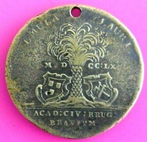 0433-PAYS-BAS-MERIDIONAUX-AR-medaille-034-au-palmier-034-1757-N-Heylbrouck