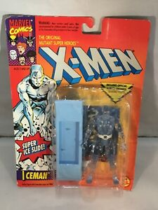 Marvel X-Men Iceman w//Super Ice Slide Toy Biz Action Figure Action MOC 1993