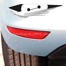 Creative cartoon big hearo Baymax watch peeping Onlook car stickers wall decals