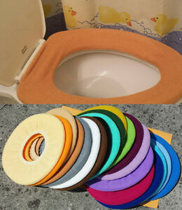 Bathroom Toilet Seat Warmer Cover  Washable -Copper Golden Brown- LifeLong Needs