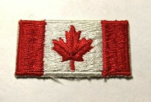 Ecusson brodé drapeau du Canada