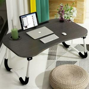 Laptop-Bed-Tray-Table-Portable-Lap-Desk-Notebook-Breakfast-Tray-Cup-Slot-UK