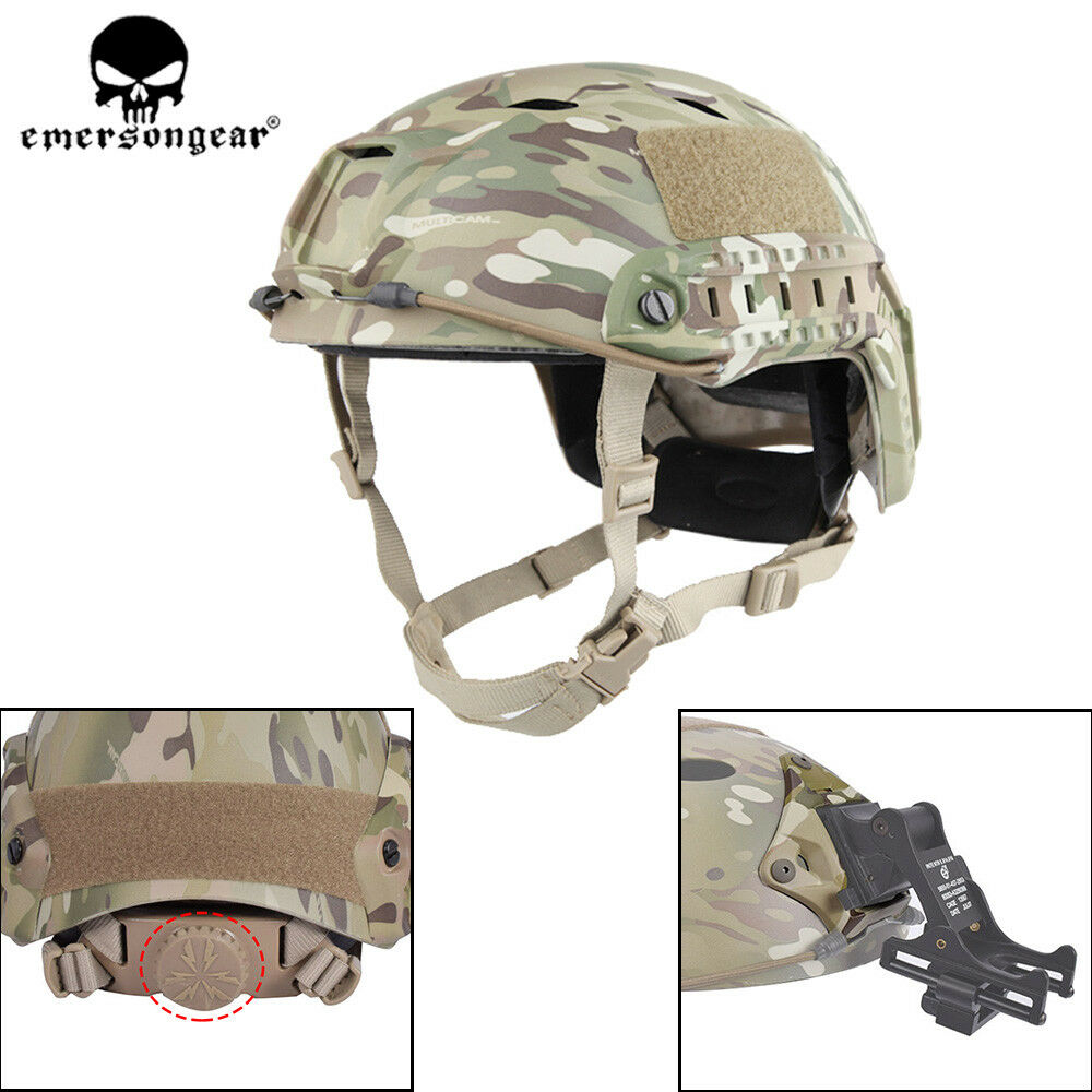 Emerson BJ Type Tactical Fast Helmet Advanced  Adjustment Head Size w  Side Rail  outlet store