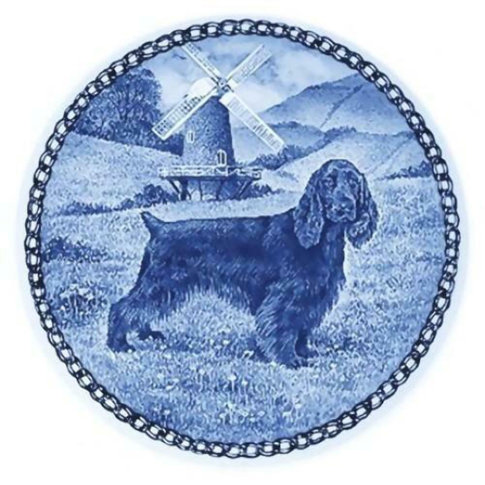 Field Spaniel - Dog Plate made in Denmark from the finest European Porcelain