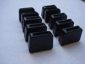 Détails sur Lot de 16 embouts enveloppants pour fer plat 20x5mm noir patin chaise type IKEA