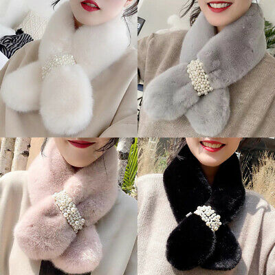 Women/'s Faux Fur Collar Coat Luxury Warm Hairy Soft Shawl Hood Fur Scarves