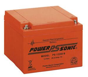 Ie12240, Ie12260, énergie industrielle, 12v 26ah, batterie d'acide de plomb scellée de remplacement