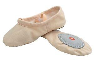 BALLET-PINK-CANVAS-GYMNASTIC-YOGA-SPLIT-SOLE-SHOES