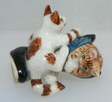 Klima Miniature Porcelain Animal Figures 2 Kittens with Blue Boot K518