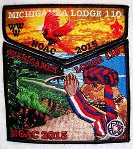 MICHIGAMEA-110-CALUMET-BSA-2-PATCH-OA-100TH-ANN-2015-CENTENNIAL-NOAC-FLAP-PIRATE