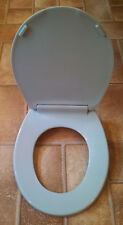 Beneke Quality Solid Plastic Round Front Toilet Seat 420 Mansfield MISTY BLUE
