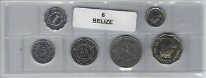 Belize Série De 6 Pièces De Monnaie PréVenir Le Grisonnement Des Cheveux Et Aider à Conserver Le Teint