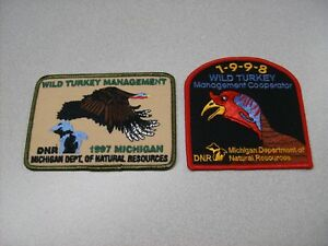 1987 MICHIGAN DNR SUCCESSFUL BEAR HUNTER PATCH DEER-TURKEY-ELK-MOOSE-FISHING