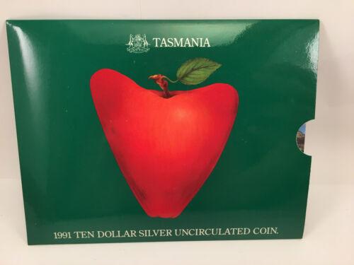1991 $10 Uncirculated Silver Coin State Series Tasmania