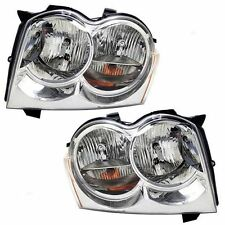 2005 2006 2007 JEEP GRAND CHEROKEE HEAD LAMP LIGHT PAIR LEFT AND RIGHT SET