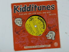 childrens 78rpm KIDDITUNES early one morning / polly wolly doodle LM 11