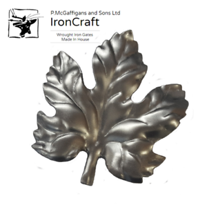 Pack of 10 Decorative Leaves Gate Fence Railings Mild Steel to Weld 105mm x 95mm