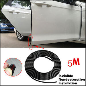 universal 16ft 5m car suv adhesive door edge guard scratch molding trim strips ebay. Black Bedroom Furniture Sets. Home Design Ideas