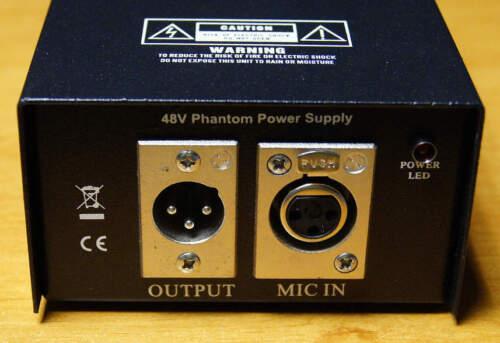 Alimentation Phantom 48V PHA1 pour micros statiques Sur secteur 230V électret