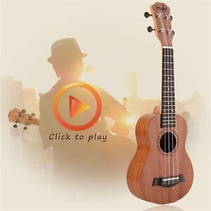 21 Inch High Quality Musical Wood Material Instrument Soprano Ukulele PLJ