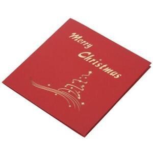 2Er-Pack-Weihnachts-Pop-Up-Karten-Weihnachtsbaum-Frohe-Weihnachten-Karte-fue-L1Y1
