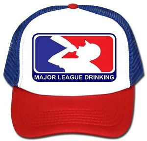 Image is loading MAJOR-LEAGUE-DRINKING-Trucker-HAT-Funny-Baseball-Adult- 2c8846d9793