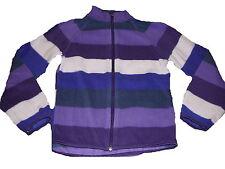 H & M tolle Fleece Jacke Gr. 122 / 128 lila gestreift !!