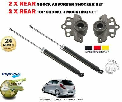 FOR VAUXHALL CORSA D SRI VXR 2006-/> 2x REAR SHOCKERS TOP STRUT MOUNTING  SET