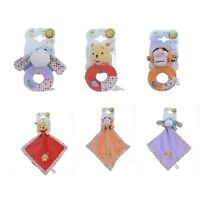 Posh Paws Winnie the Pooh Good Morning Comforter & Ring Rattle Baby Gift Set 0m+