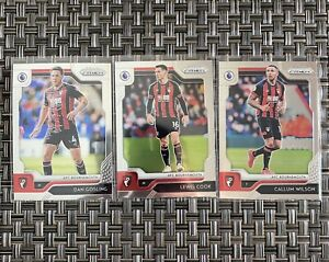 AFC-Bournemouth-Gosling-Cook-Wilson-Lot-Of-3-2019-2020-Panini-Prizm-Premier-Leag